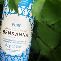Ben & Anna - Natural Soda Deodorant Stick - Pure (Unscented) 60g - Raw Cottage