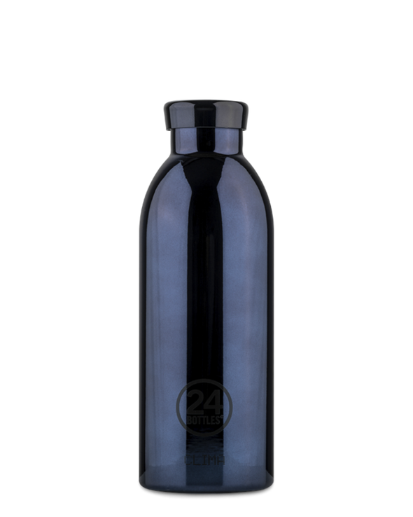 24Bottles - Clima Bottle - Metallic Black Radiance 500ml - Raw Cottage