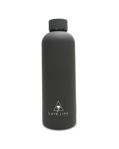 Caye Life - 'Zanzibar' Drink Bottle – Matte Black 750ml - Raw Cottage