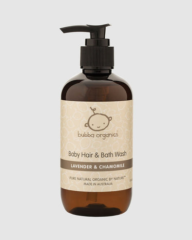 Bubba Organics Lavender & Chamomile – Baby Hair And Bath Wash – 250ml - Raw Cottage