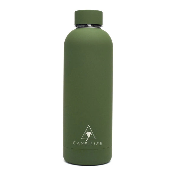 Caye Life - 'Galapagos' Drink Bottle – Matte Green 750ml - Raw Cottage