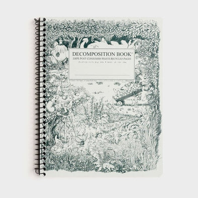 Decomposition – Spiral Notebook - Ruled - Large – Gardening Gnomes