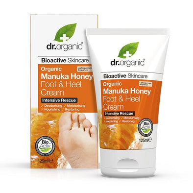 Dr. Organic Manuka Honey Foot & heel Cream – Intensive Rescue – 125ml