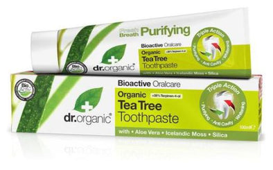 Dr. Organic Tea Tree Toothpaste – Triple action – Lemon Mint Flavour - 100ml