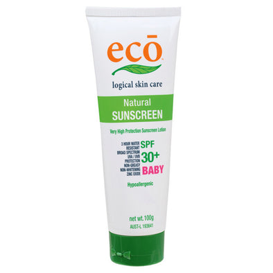 Eco Logical Natural Baby Sunscreen – SPF 30+  100g - Raw Cottage