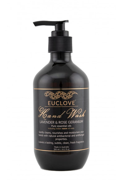 Euclove Hand Wash – Lavender & Rose Geranium – 500ml
