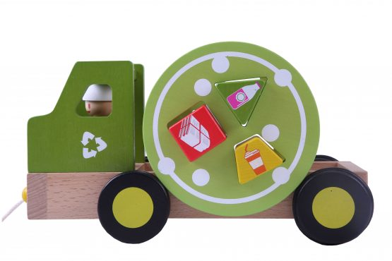 EverEarth - Wooden Pull Along Recycling Truck - Raw Cottage