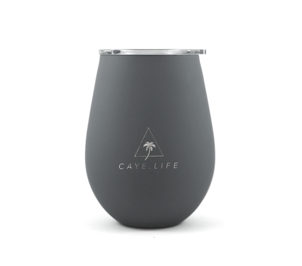Caye Life - 'Capri' Thermo Cup - Steel Grey Matte 360ml - Raw Cottage