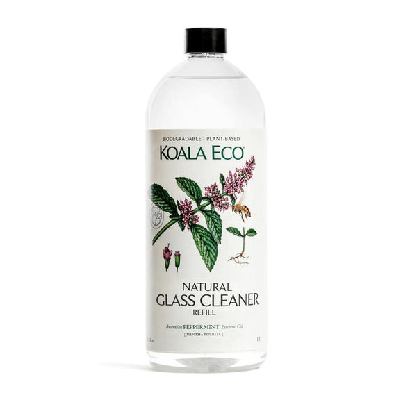 Koala Eco – Natural Glass Cleaner – Peppermint – 1 Litre Refill Bottle