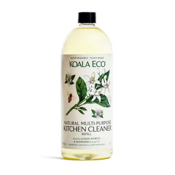 Koala Eco – Multipurpose Kitchen Cleaner – Lemon Myrtle and Mandarin – 1 Litre Refill Bottle