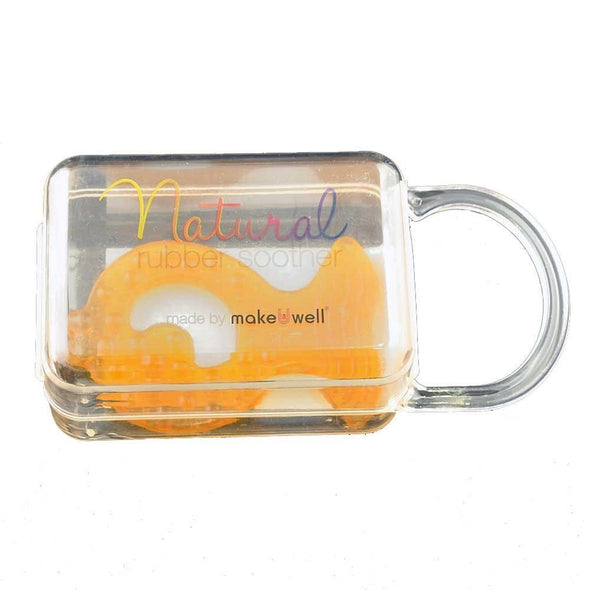makeUwell - Natural Rubber Teether - Fish - Raw Cottage