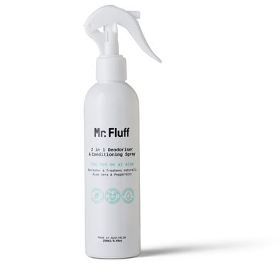 Mr Fluff - 2 in 1 Deodoriser and Conditioning Spray You had me at Aloe - 250ml - Raw Cottage