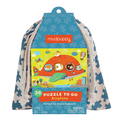 Mudpuppy - Puzzle To Go - Airplane - Raw Cottage