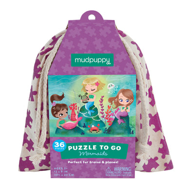 Mudpuppy - Puzzle To Go - Mermaids - Raw Cottage