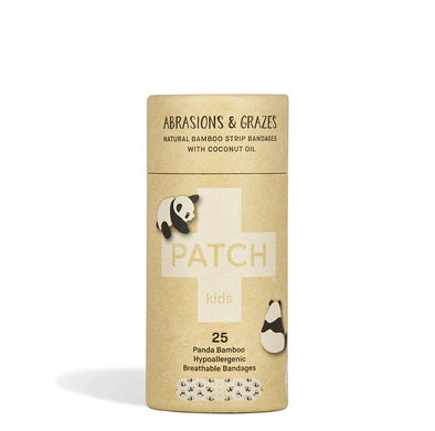 PATCH Adhesive Bamboo Bandages Coconut Oil (Kids) - Abrasions & Grazes - Raw Cottage