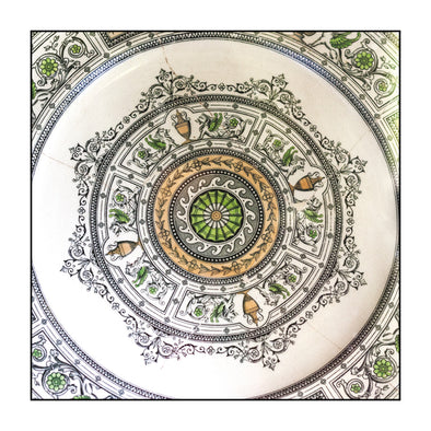 Myrtle & Me – Plate At Commandant's House Greeting Card - Raw Cottage