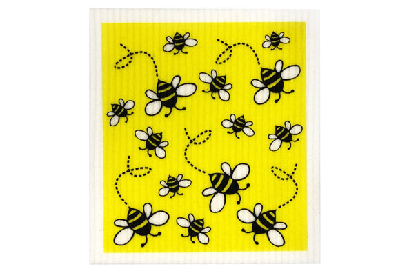 RetroKitchen - 100% Biodegradable Dishcloth - Bees - Raw Cottage