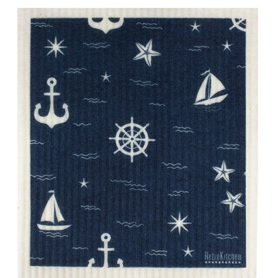 RetroKitchen 100% Biodegradable Dishcloth – Nautical