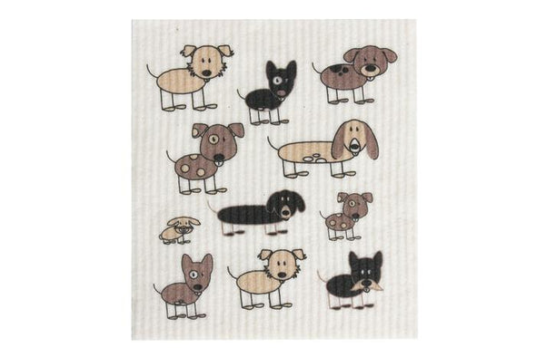 RetroKitchen - 100% Biodegradable Dishcloth - Dogs - Raw Cottage