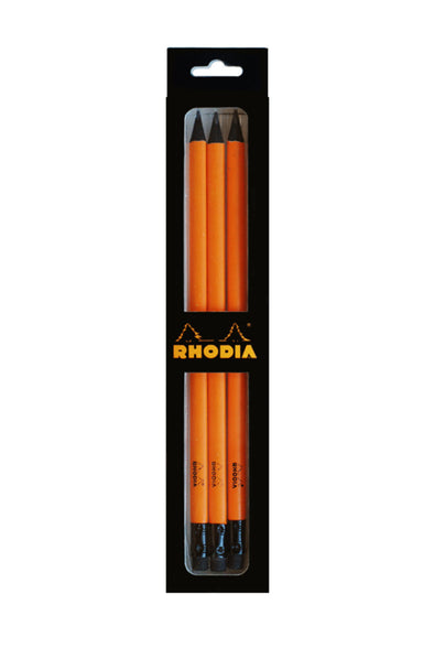 Rhodia – Premium Graphite Pencil – HB Lead – 3 pack