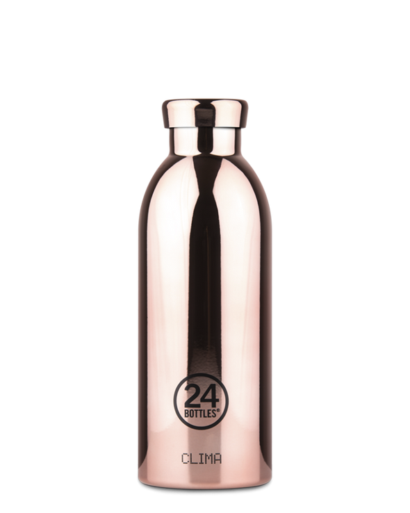 24Bottles - Clima Bottle - Metallic Rose Gold 500ml - Raw Cottage