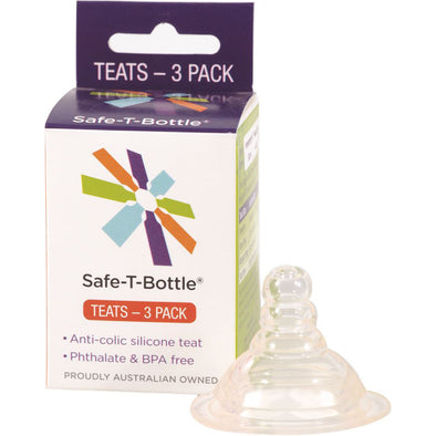 Safe-T-Bottle – Teats – Medium Flow – Pack of 3