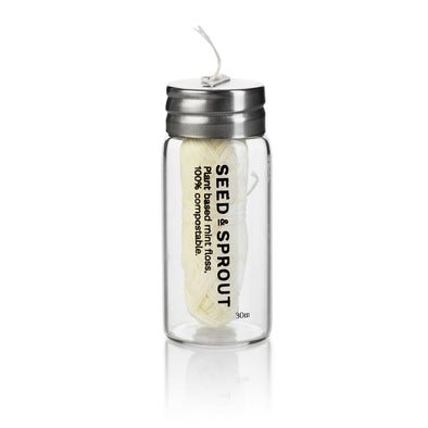 Seed & Sprout Tooth Floss in Glass Jar - Raw Cottage