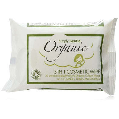 Simply Gentle - Organic 3 in 1 Cosmetic Wipes - Raw Cottage