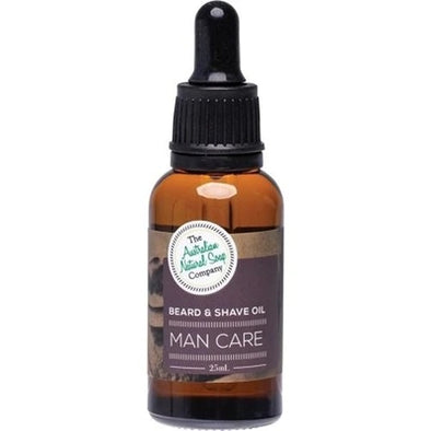 The Australian Natural Soap Co – Man Care Beard and Shave Oil 25ml - Raw Cottage