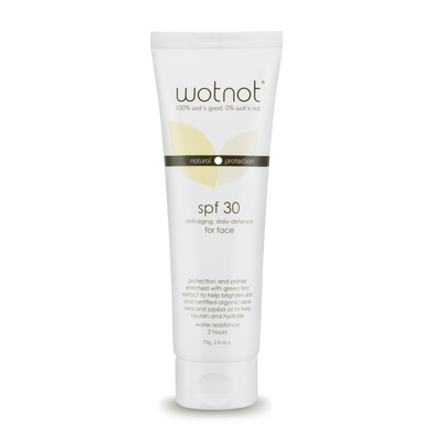 Wotnot Naturals – Natural Face Sunscreen SPF 30 - 75g - Raw Cottage