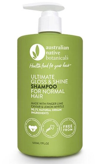 Australian Native Botanicals – Shampoo – Ultimate Gloss and Shine for Normal Hair – 500ml