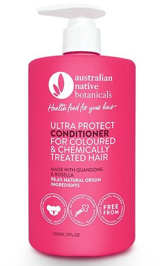 Australian Native Botanicals – Conditioner – Ultra Protect for Coloured & Chemically Treated Hair – 500ml
