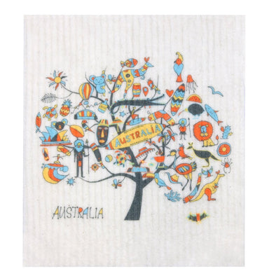 RetroKitchen 100% Biodegradable Dishcloth – Australia Tree