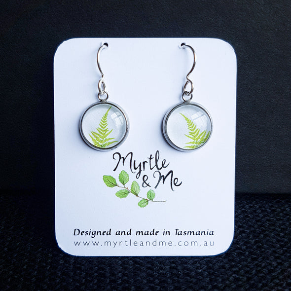 Myrtle & Me – Fern Drop Earrings - Raw Cottage