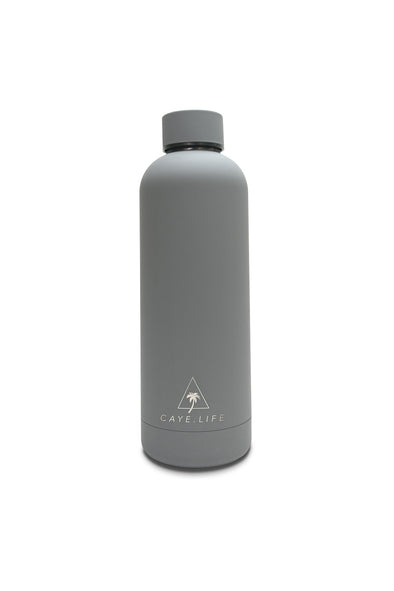 Caye Life - 'Capri' Drink Bottle - Steel Grey Matte 750ml - Raw Cottage
