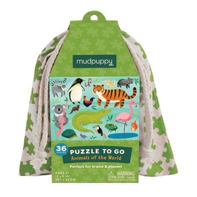 Mudpuppy - Puzzle To Go - Animals of the World - Raw Cottage