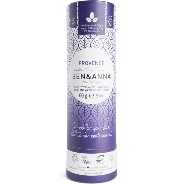 Ben & Anna - Natural Soda Deodorant Stick - Provence 60g - Raw Cottage