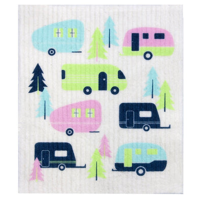 RetroKitchen 100% Biodegradable Dishcloth – Caravan