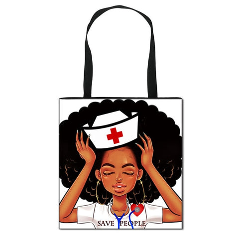 Cute Diva Nurse Tote Handbag