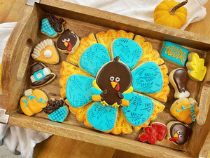 Turkey cookie platter by Koch's General Store