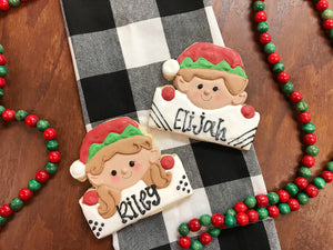 Koch's General Store personalized elf sugar cookies
