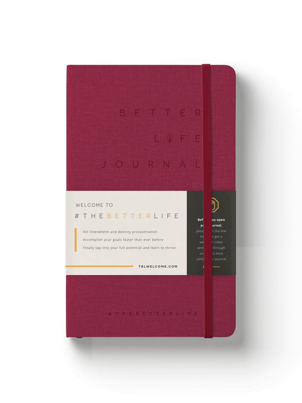 The Better Life Journal (Burgundy)