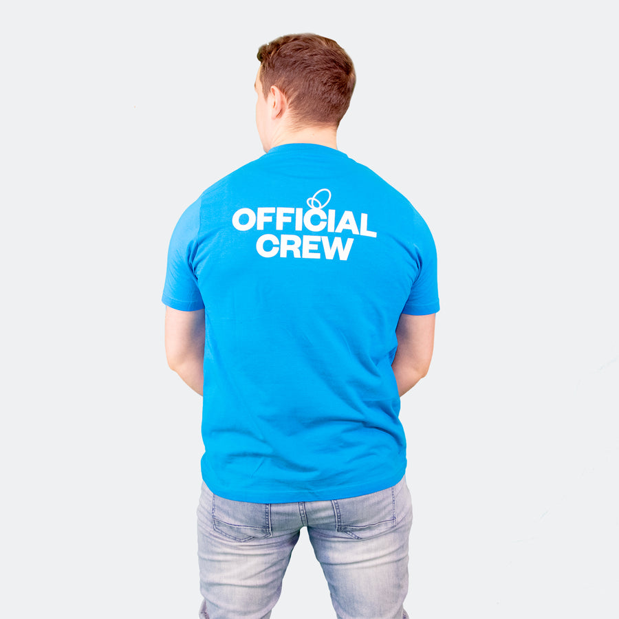 Wonder Project mens blue tee shirt back