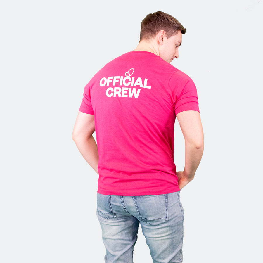 Wonder Project mens pink tee shirt back