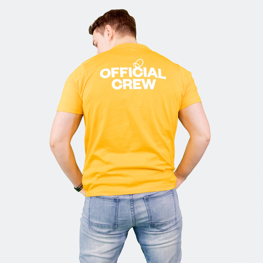 Wonder Project mens yellow tee shirt back