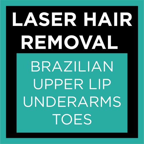 Laser Hair Removal Brazilian + Upper Lip + Underarms + Toes Package