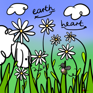 'Earth Heart' Greeting Cards - Pack of 10