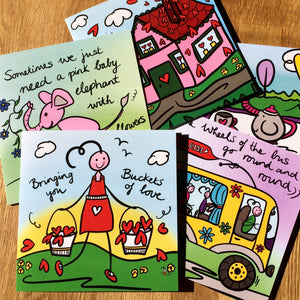 Cute and Colourful Greeting Cards - Mixed Pack of 10