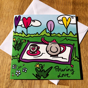 'Pouring Love' Greeting Cards - Pack of 10