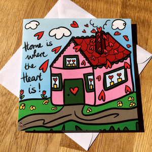 'Home' Greeting Cards - Pack of 5